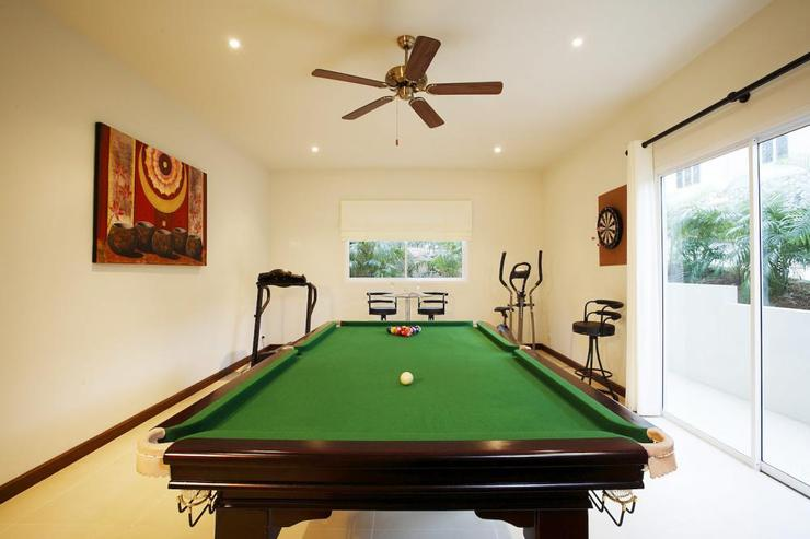 Games room with direct access to the outside sun deck and swimming pool