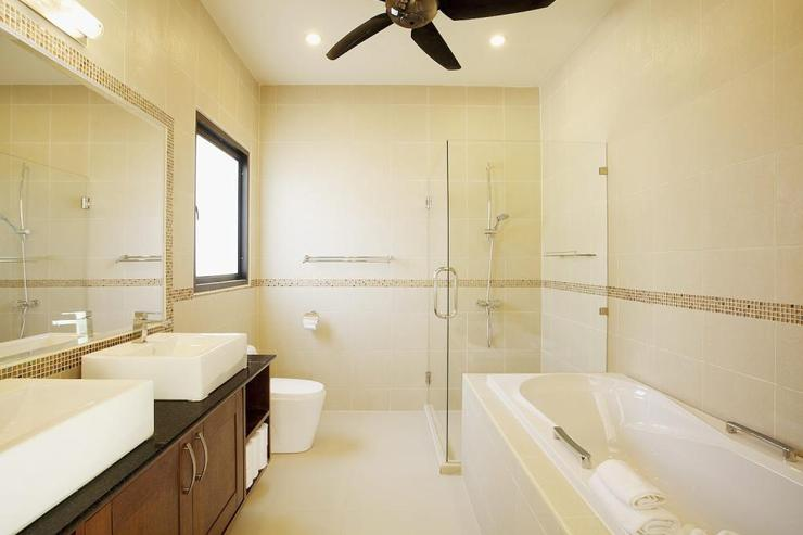 Master en-suite bathroom with bath and large walk in shower