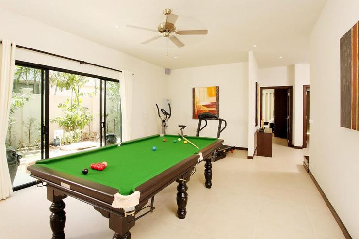 Opal Villa (V11) - Games room with pool table and gym equipment