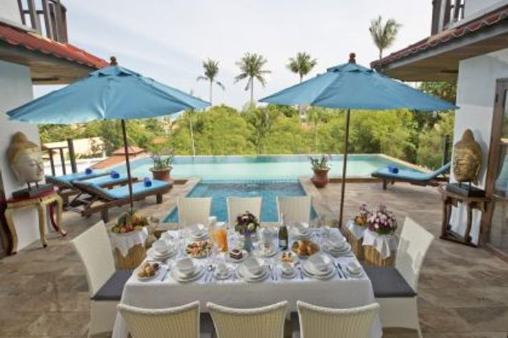 Royal Thai Villa - Pool Patio area for alfresco breakfast and dining