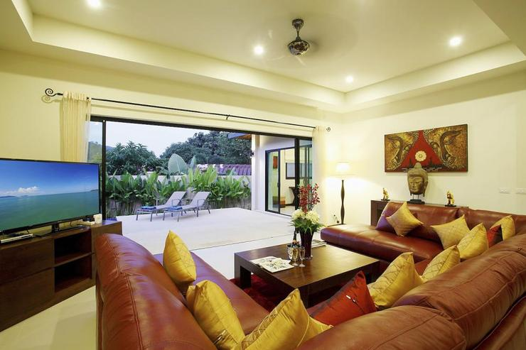 "Ruby Villa - Spacious living room, complete with 50"" flat screen TV"