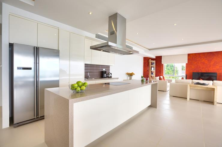 The modern kitchen has all the amenities guests would expect - home from home