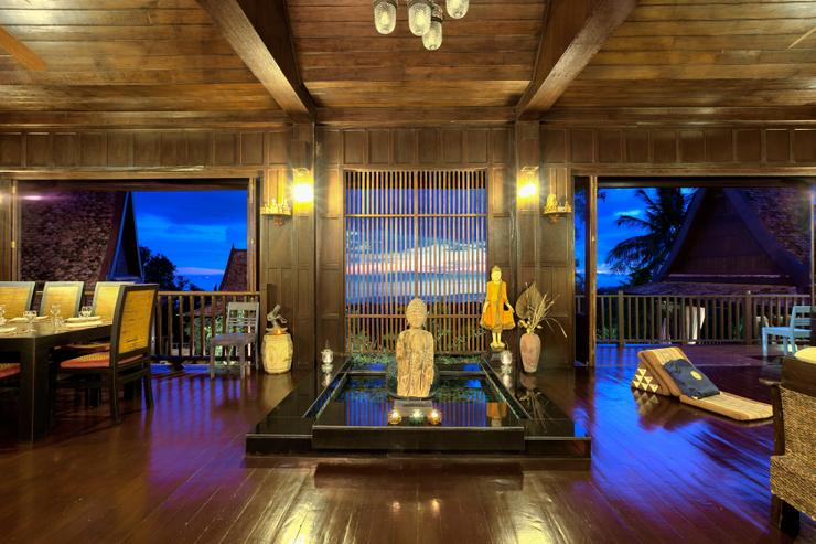 Villa Thai Teak at night - beautifully finished villa proving you with a holiday never to forget