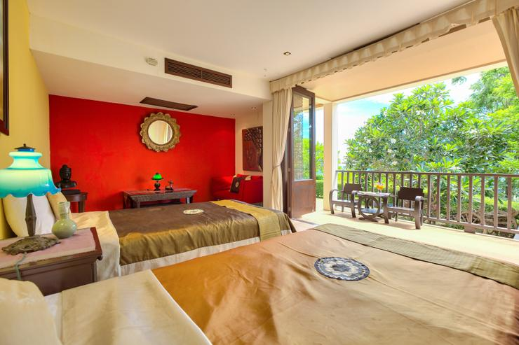 Villa Thai Teak - En-suite Bedroom 4 - twin singles with amazing ocean views
