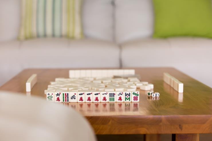 Mahjong set (available from the Library)