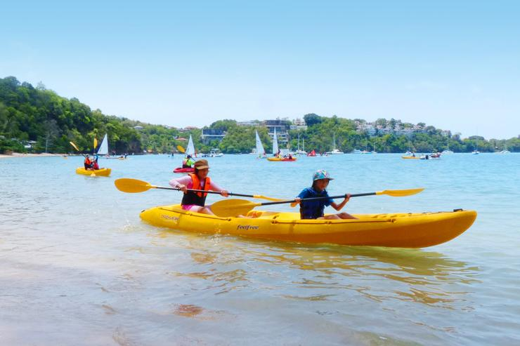 The villa has two canoes (plus lots of other beach games). They are perfect for early morning fitness sessions, or children's play alike.