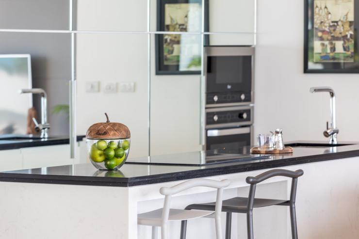 Villa Hanuman - A bespoke kitchen with an array of top high end appliances