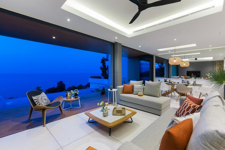 Villa Veasna - the seating sofas and the armchair bring understated elegance to the living area